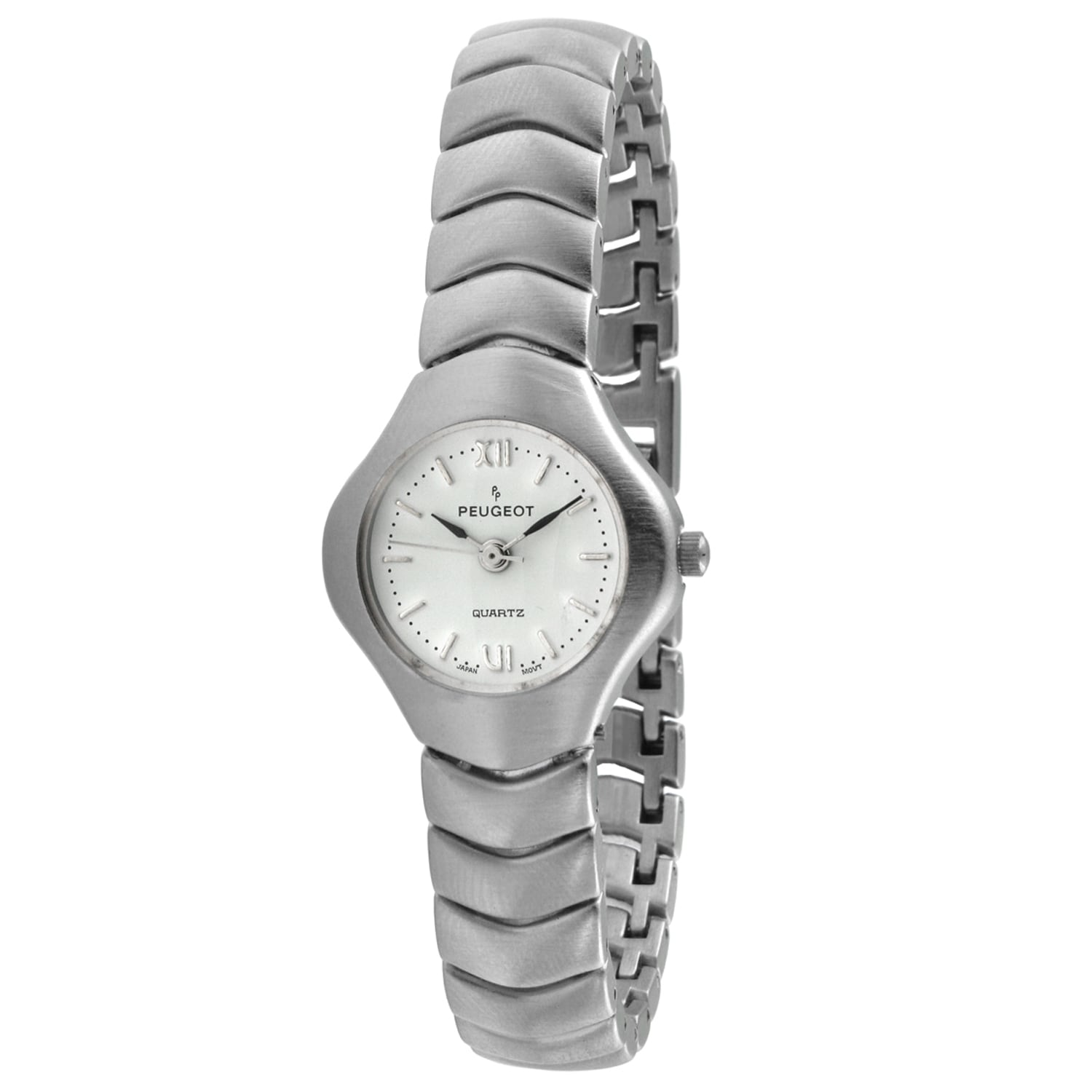 Peugeot Women's Silvertone Wave Link Watch