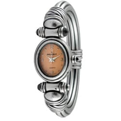 Peugeot Women's Antique Peach Dial Cuff Watch