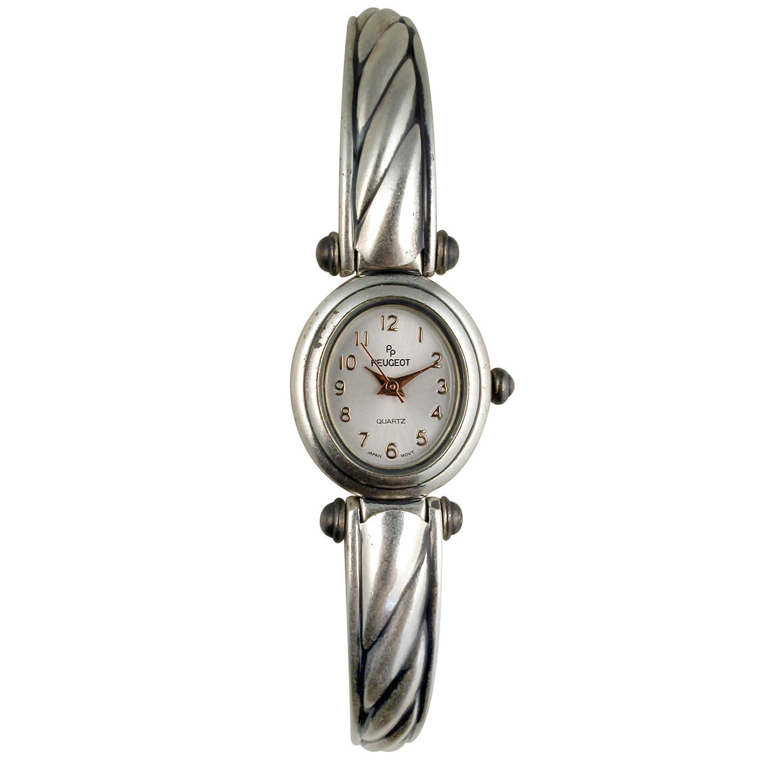 Peugeot Women's Antique Oval Case Cuff Watch