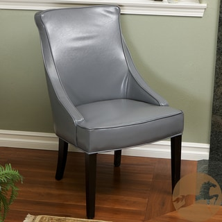 Christopher Knight Home Alfonso Grey Leather Accent Chair