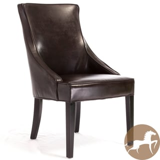 Christopher Knight Home Alfonso Brown Leather Accent Chair