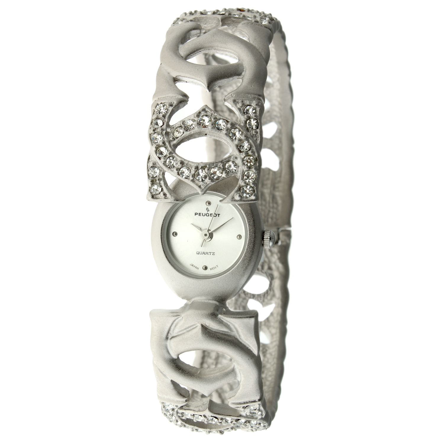 Peugeot Women's Antique Silver Matte Bangle Watch