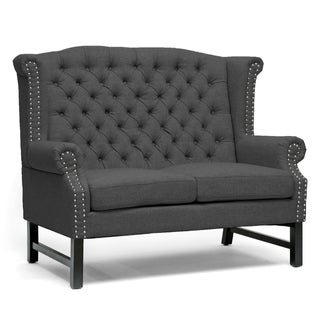 Sussex Dark Grey Linen Loveseat