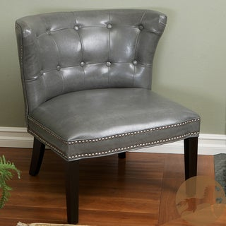 Christopher Knight Home Bridget Grey Leather Accent Chair
