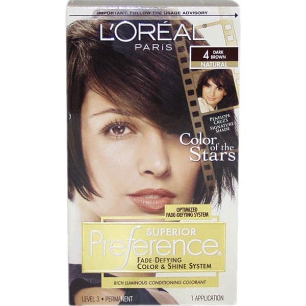 L'Oreal Superior Preference Natural #4 Dark Brown Hair Color