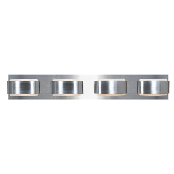 Access Iriduim 4-light Brushed Nickel Vanity Fixture