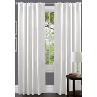 Venetian White Faux Silk 84-inch Curtain Panel