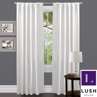 Venetian White Faux Silk 84-inch Curtain Panel