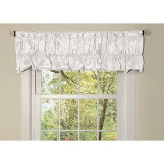 White Faux Silk Venetian Window Valance