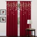 Lush Decor Red Faux Silk 84-inch Flower Drop Curtain Panel