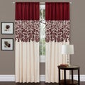 Red Faux Silk 84-inch Estate Garden Curtain Panel