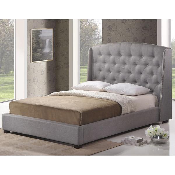 Baxton Studio Ipswich Dark Gray Linen Modern Platform Bed