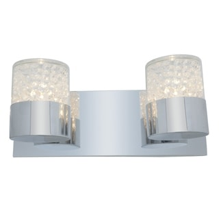 Access Kristal 2-light Chrome Wall Sconce