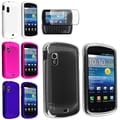BasAcc Crystal/ Pink White Blue Rubber Cases/ One Protector for Samsung� Stratosphere i405