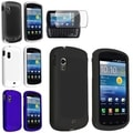BasAcc Crystal/ Black White Blue Rubber Cases/ One Protector for Samsung Stratosphere i405