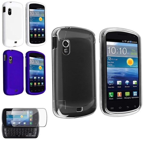 BasAcc Crystal/ Rubber Case/ Protector for Samsung© Stratosphere i405 White/Blue