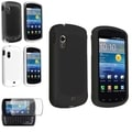 BasAcc Crystal/ Rubber Case/ Protector for Samsung Stratosphere i405 White/Black