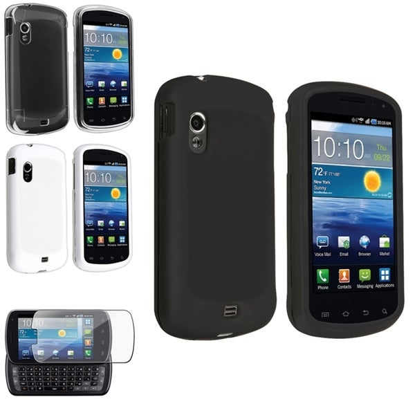 BasAcc Crystal/ Rubber Case/ Protector for Samsung© Stratosphere i405 White/Black