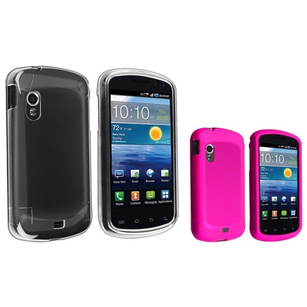 INSTEN Crystal/ Pink Rubber Phone Case Cover for Samsung Stratosphere i405