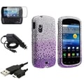 BasAcc Purple Waterfall Diamond Case/Screen Protector/Cable for Samsung Stratosphere i405