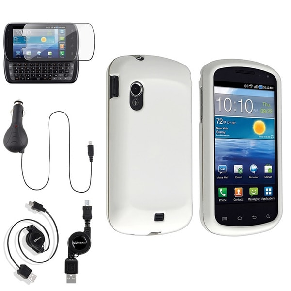 BasAcc White Case/Screen Protector/Charger for Samsung© Stratosphere i405