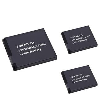 BasAcc Li-Ion Battery for Canon NB-11L (Pack of 3)