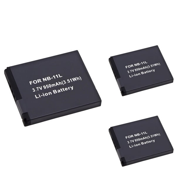 INSTEN Li-Ion Battery for Canon NB-11L (Pack of 3)