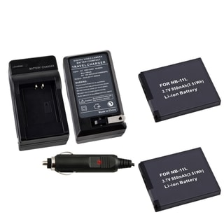 BasAcc Li-Ion Battery/ Battery Charger for Canon NB-11L