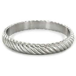Stainless Steel Twisted Bangle Bracelet