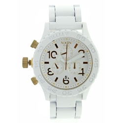 Nixon Men's White and Gold 42-20 Chronograph Watch