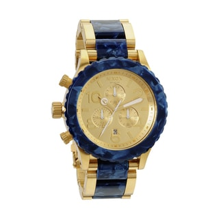 Nixon Men's 42-20 Gold and Royal Granite Chronograph Watch