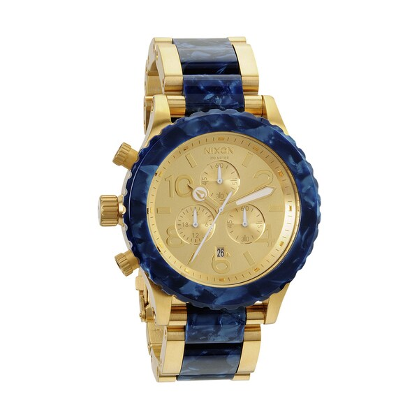 Nixon Men's 42-20 Gold and Royal Granite Chronograph Watch