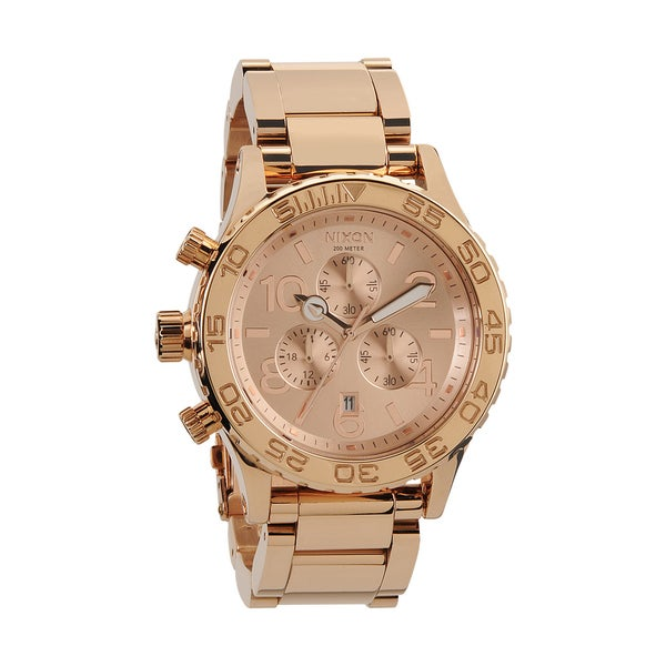 Nixon Men's 42-20 Rose-gold Chronograph Watch