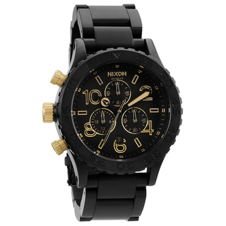 Nixon Men's 42-20 Matte Black and Gold Chronograph Watch