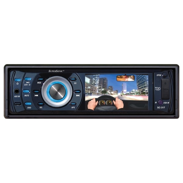"Supersonic SC-317 Car DVD Player - 3"" LCD - 16:9 - Single DIN"