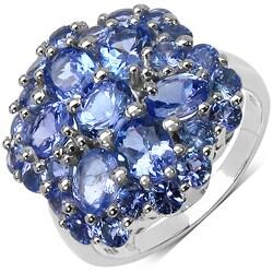 Malaika Sterling Silver Tanzanite Violet Ring