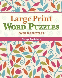 Large Print Word Puzzles (Paperback)