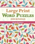 Large Print Word Puzzles (Spiral bound)