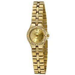 Invicta Women's Wildflower 18k Goldplated White Crystal Watch