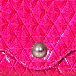 M Collection Women's 'Veronica' Diamond Quilt Clutch