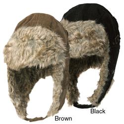 Boston Traveler Men's Corduroy Faux Fur Trapper Hat