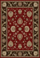 Royal Treasures Red Floral Rug (5'3 x 7'3)