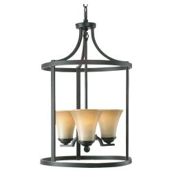 Fallsburg 3-light Heirloom Bronze Finish Foyer Chandelier