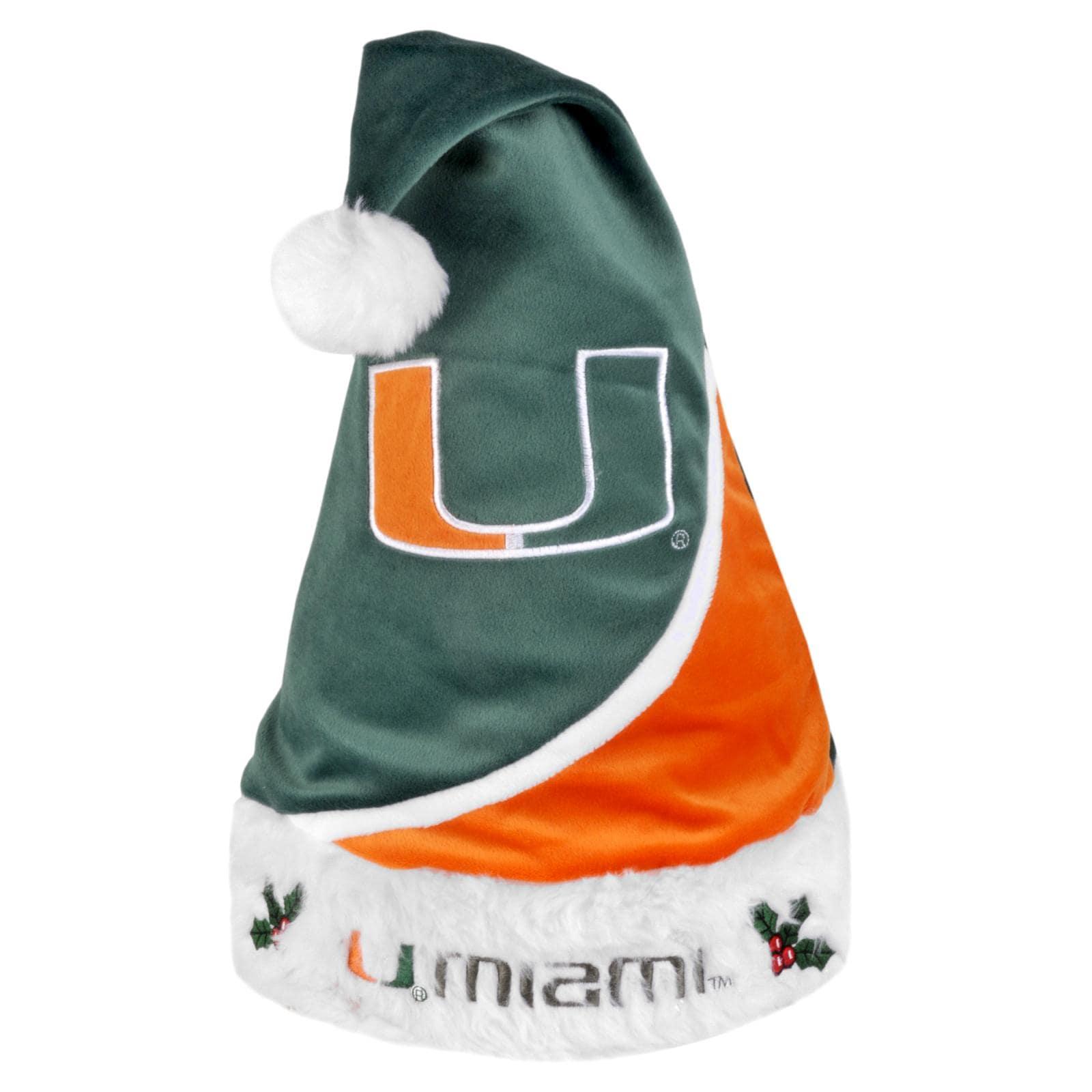Miami Hurricanes Polyester Santa Hat