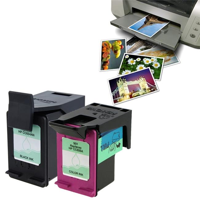 HP901XL/ 901 Compatible Ink with 40-piece Glossy Photo Paper (Remanufactured)