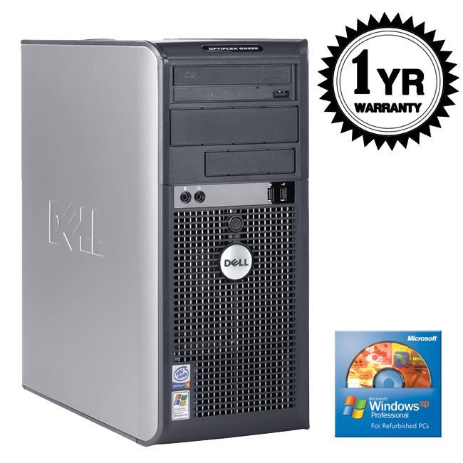 Dell OptiPlex GX620 3.2GHz 2GB 80GB XP Pro Tower Desktop Computer (Refurbished)