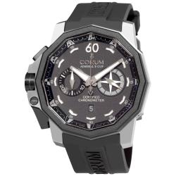 Corum Men's 'Admirals Cup Chronograph 50 LHS' Black Dial Watch