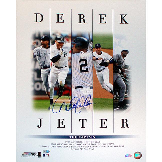Steiner Sports Derek Jeter Autographed Career Accomplishments 5-image 16x20-inch Photograph