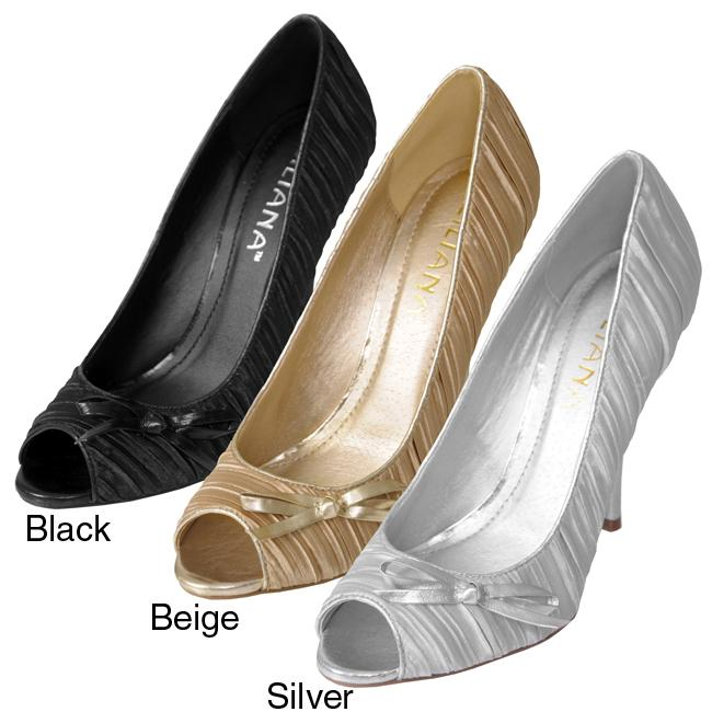 Liliana by Adi Women's 'Escada-3' Satin Peep Toe Heels