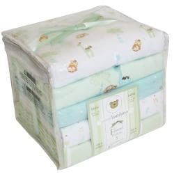 Piccolo Bambino Green Cotton Receiving Blankets (Pack of 5)